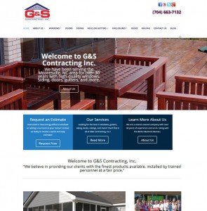 g and s contracting new website