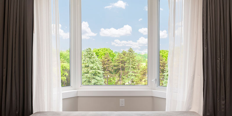 Bay windows bring life to a room